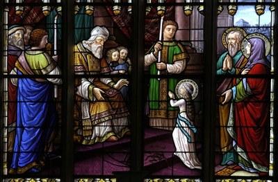 Vitrail Présentation de Marie au Temple